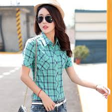aliexpress com buy 2017 fashion women u0027s cotton plaid short