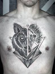 60 wolf chest designs for manly ink ideas
