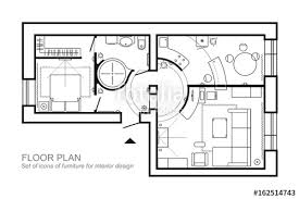 top view floor plan architectural plan of a house layout of the apartment top view with
