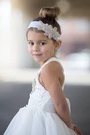 flower girl headbands lace and rhinestone headband headband flower girl
