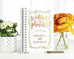 personalized wedding planner personalized wedding planner etsy