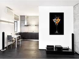 tableau decoration cuisine tableau mural verre de cocktail décoration cuisine hexoa