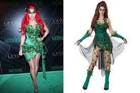 Halloween Poison Ivy Costume Kim Kardashian Johnny Depp Celebrity Inspired Halloween