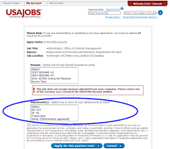 Resumes For Government Jobs by Usdol Doors How To Submit Supplemental Documentation