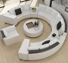 custom living room furniture round top grain leather sofa custom creative fashion living room