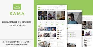 theme drupal menu block kama responsive magazine business drupal 8 theme download and