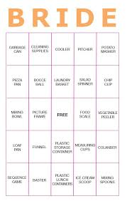 bridal shower gift bingo 11 free printable bridal showers bingo cards