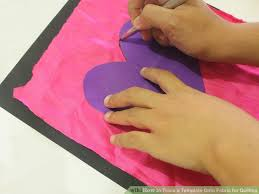 how to trace a template onto fabric for quilting 5 steps