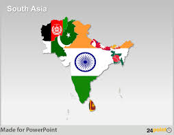 south asia countries map south asia maps countries capitals provinces powerpoint