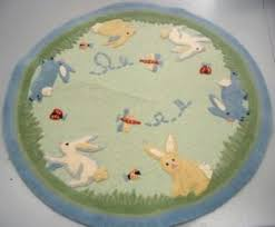 ioffer want ad pottery barn carrot patch rug round prefered