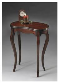 Cherry Accent Table Plantation Cherry Kidney Shaped Table Transitional Side Tables