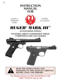 ruger mark iii autoloading pistol manual magazine firearms