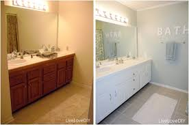 Painting A Bathroom Vanity Before And After by Easy Updates