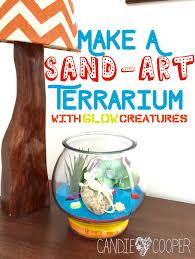 down in the desert kids sand art terrarium with glow creatures