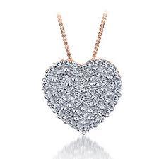 color diamond necklace images Large heart diamond pendant diamonds pendant necklace jpg