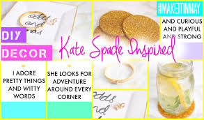 diy kate spade inspired decor makeitinmay 2015 youtube