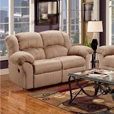 Reclining Sofa And Loveseat Set Sensation Microfiber Dual Reclining Sofa Loveseat Set Camel