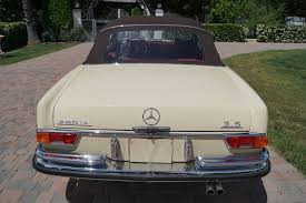 classic red mercedes 1971 mercedes benz 280se red leather stock 198 for sale near