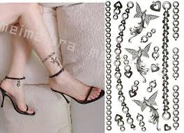 temporary tattoo diy back necklace bracelet anklet phoenix body