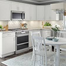 Kitchen Designs With White Cabinets And Black Countertops - kitchen cabinets color gallery at the home depot