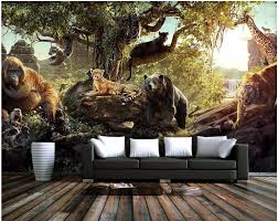 popular forest mural wallpaper buy cheap forest mural wallpaper custom mural 3d wallpaper forest animal world decoration painting 3d wall murals wallpaper for living room