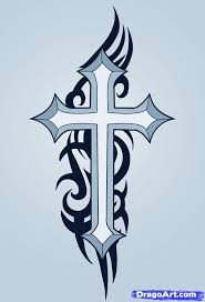 Cross Tattoos - cracked cross celtic cross tattoos and tatting
