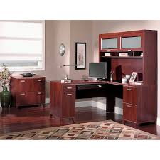 Computer Desk With Hutch Cherry by Bush Furniture Designing And Delivering Quality Furniture To Your
