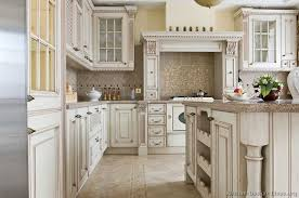 Kitchen Antique White Country Cabinets Redtinku - Country white kitchen cabinets