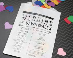 printing wedding programs modern wedding program confetti or flower toss bag printed