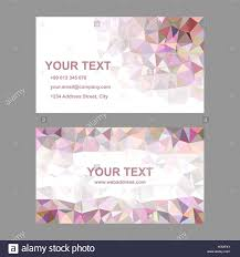 multicolor triangle design business card template stock vector art