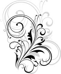 image gallery of simple leaf design black and white