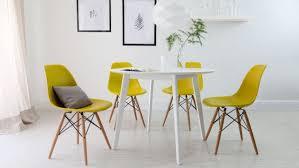 chaises jaunes design scandinave salle à manger en 58 idées inspirantes