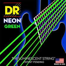 dr hi def neon green k3 coated nickel plated electric guitar strings