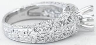 filigree engagement ring antique filigree design diamond semi mount ring with optional