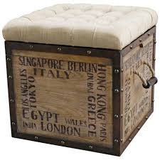 Storage Ottoman Upholstered Birch Wood Crate Upholstered Storage Ottoman Upholstered Ottoman