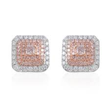 pink diamond earrings studs images jewelry design examples
