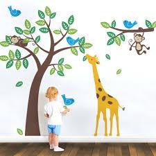 custom wall decals for nursery nursery monkey wall decals wall ideas personalized wall art