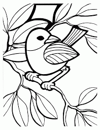 kids coloring pages birds