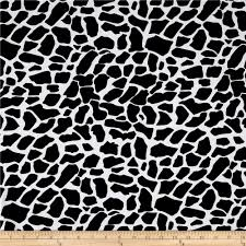 cotton lycra spandex jersey knit cow print black white discount