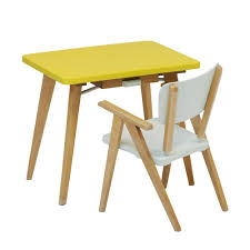chaise vintage enfant bureau et fauteuil années 50