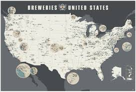 States In United States Map by Breweries Of The United States Map V2 U2013 The Roaming Pint