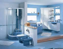 Blue And White Bathroom Ideas by Blue Bathroom Designs Attractive Bright Sky Blue And White