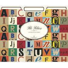 cavallini file folders vintage y alpha file folders school cool gifts for the bookish