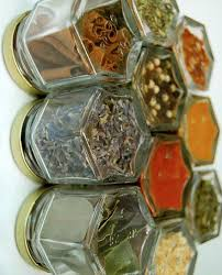 Spice Rack Empty Jars Custom Magnetic Spice Rack Includes 10 Empty Hand Stamped Glass