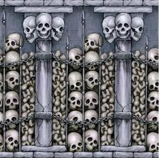 creepy skulls scene setter