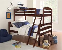 Bunk Bed With Twin Over Full by Amazon Com Dorel Living Brady Twin Over Full Solid Wood Kid U0027s
