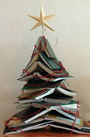 Tree Of Knowledge Bookshelf 12 Christmas Trees Made Out Of Books The Mary Sue