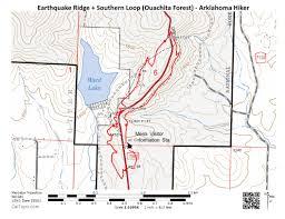 Ouachita Mountains Map Earthquake Ridge Trail Southern Loop Ouachita Forest U2013 3 Mi
