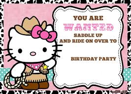 free personalized hello kitty birthday invitations drevio