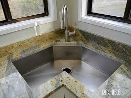 Corner Kitchen Sink Modern  Kitchen With Corner Sink On Kitchen - Corner sink for kitchen